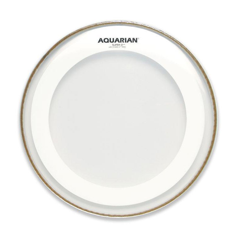 "Aquarian 16"" Super-2 Clear Head with Studio-X Ring"