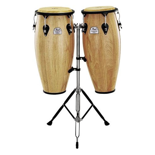 """Pearl 10"""" & 11"""" Thai Oak Conga Set with Stands"""
