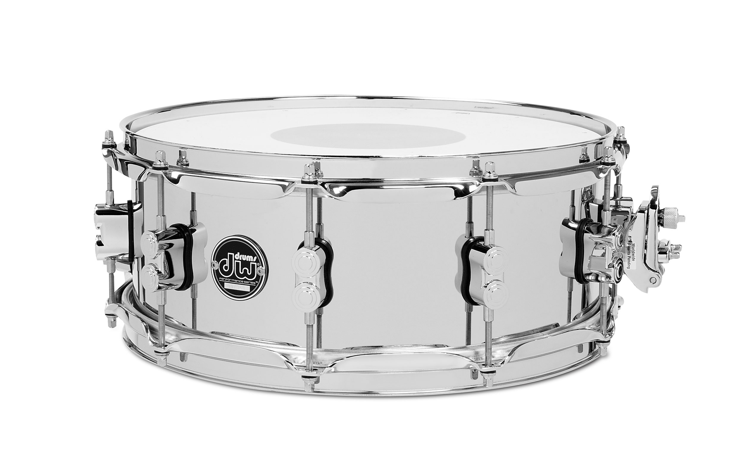 "DW 6.5"" x 14"" Performance Series Chrome Over Steel Snare Drum"