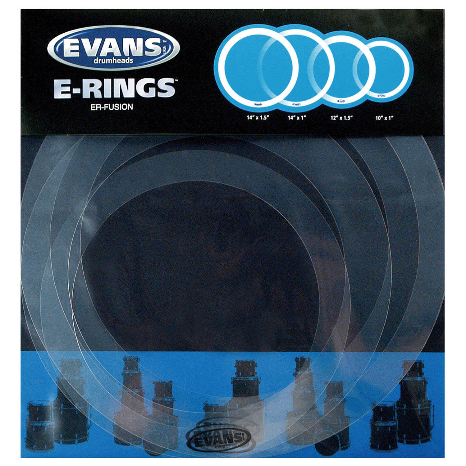 """Evans E-Ring 10-12-14 14"""" Fusion Pack"""