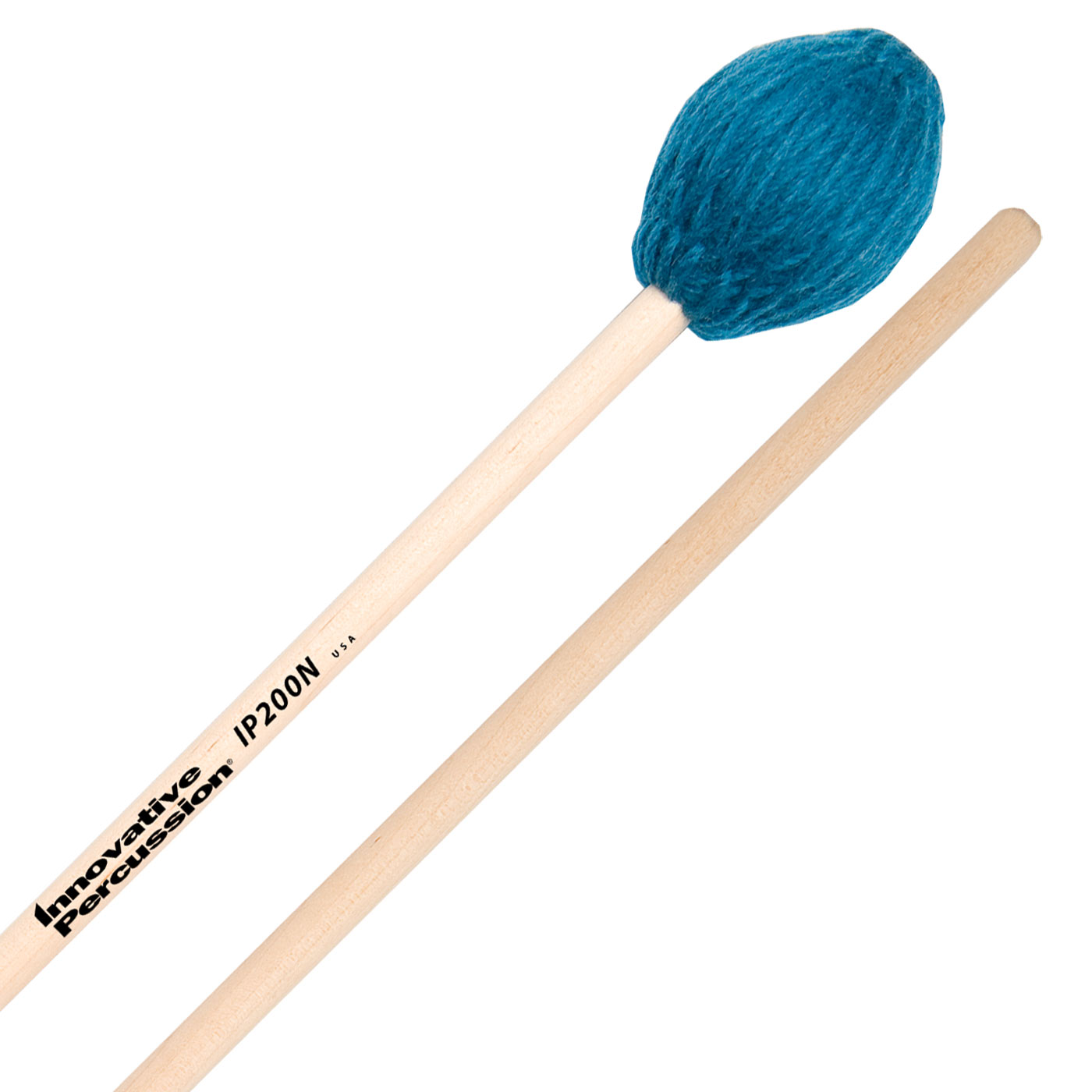 Innovative Percussion IP200N Soloist Series Medium Soft Marimba Mallets with Natural Birch Shafts
