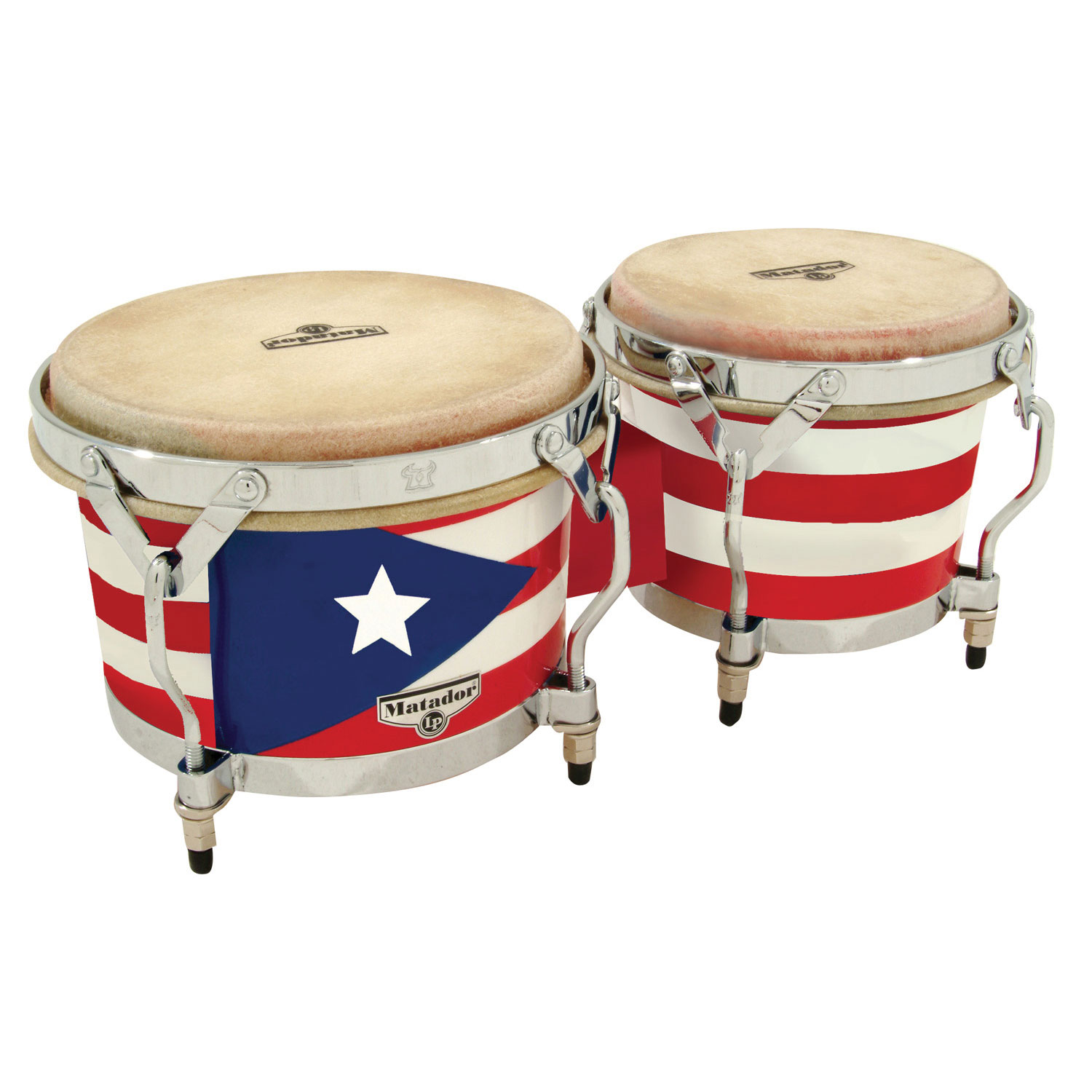 LP Puerto Rican Flag Wood Bongos
