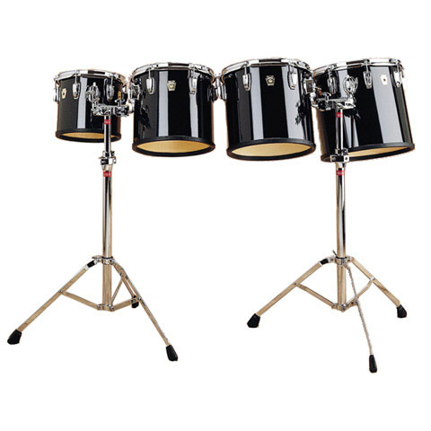 """Ludwig 10/12/13/14"""" Concert Toms with Stands with Wrap Finish"""
