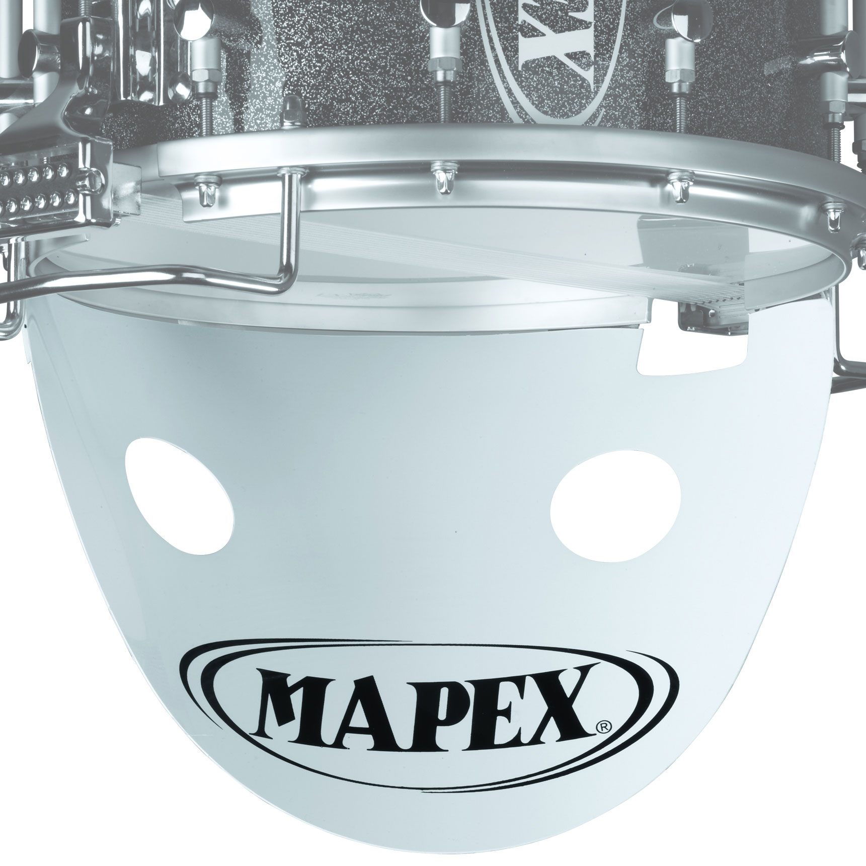 "Mapex 14"" White Snare Drum Projector with Mapex Logo"