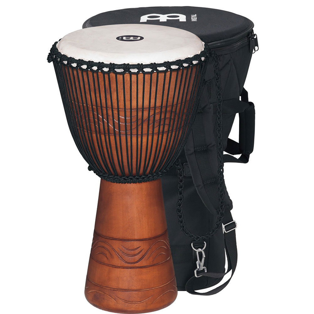 """Meinl 10"""" Water Rhythm Series Rope-Tuned Djembe with Bag"""