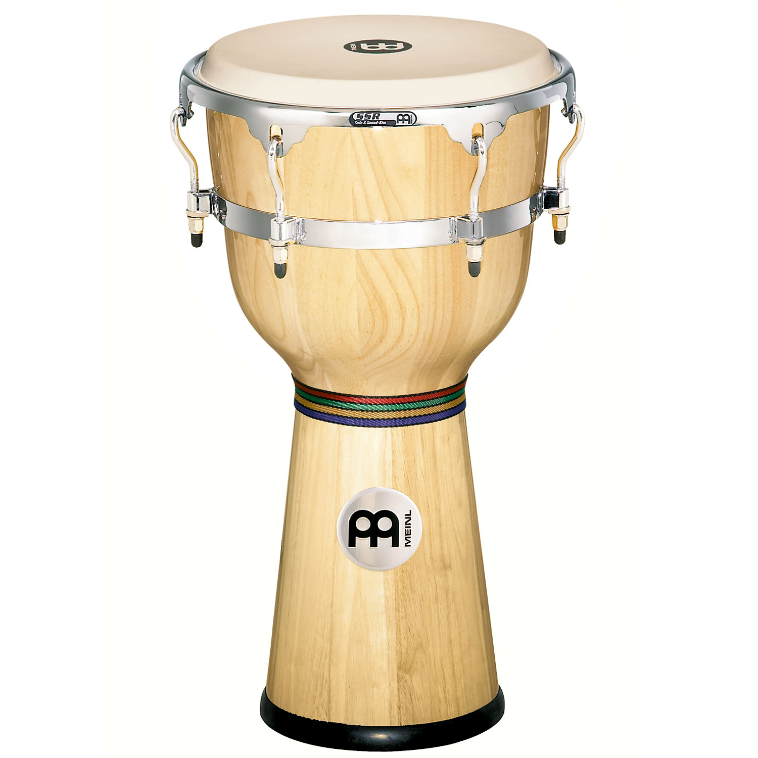 "Meinl 12"" x 24 1/4"" Floatune Wood Djembe in Natural Finish"