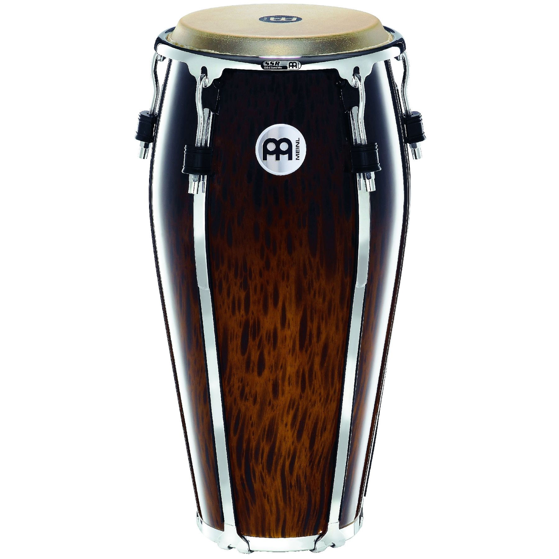 "Meinl 11"" Floatune Series Quinto Conga in Brown Burl"