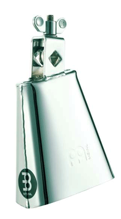"""Meinl 4.5"""" Low-Pitched Chrome Finish Cowbell"""