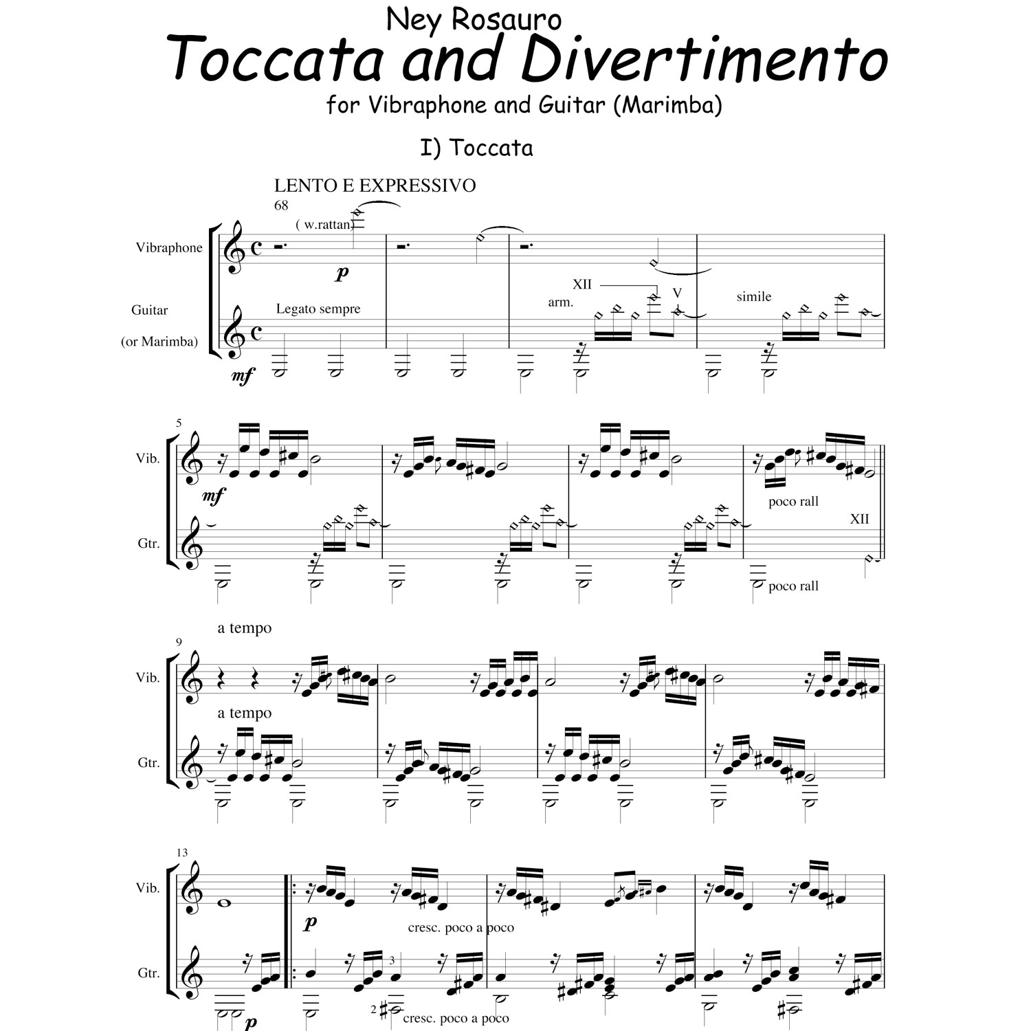 Toccata and Divertimento by Ney Rosauro