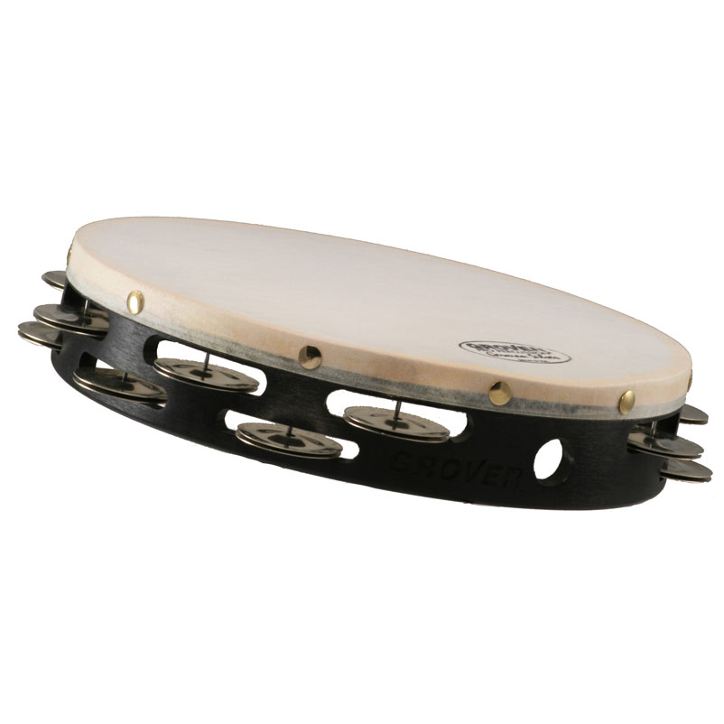 """Grover Pro 8"""" Projection-Plus Double-Row German Silver Tambourine (Natural Head)"""