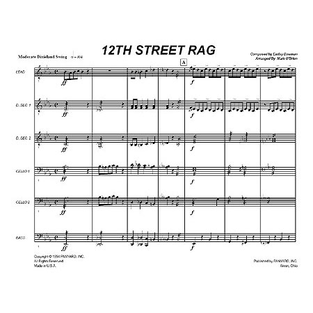 12th Street Rag by Euday L. Bowman arr. Mark O