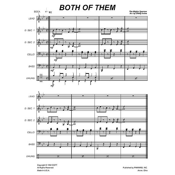 "Both of Them by Slinger ""Mighty Sparrow"" Francisco arr. Shelly Irvine"