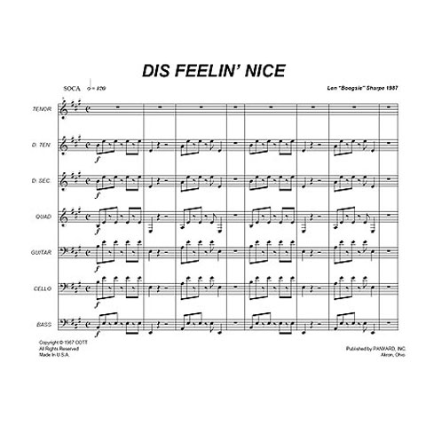 "Dis Feelin Nice by Len ""Boogsie"" Sharpe arr. Murray Mast"
