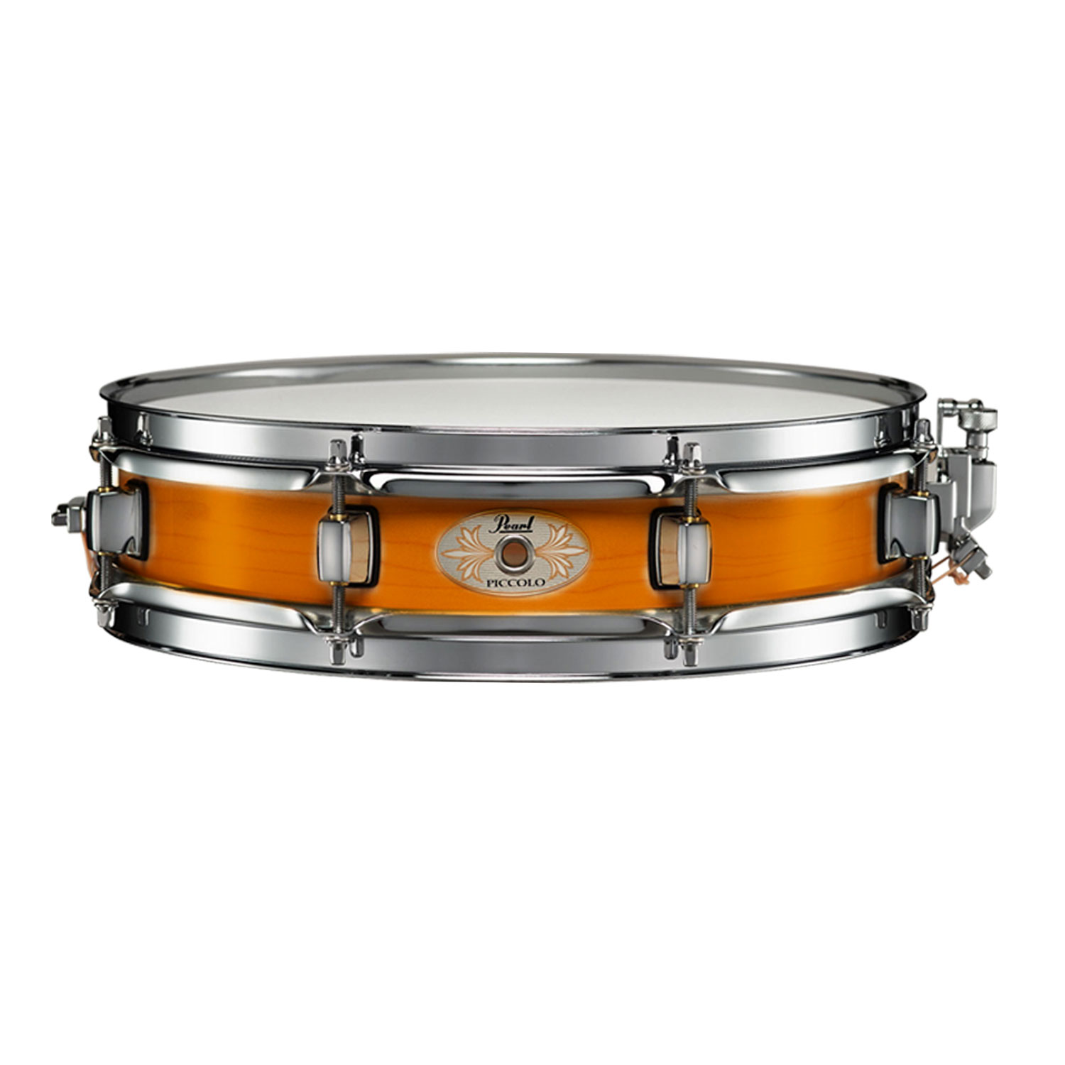 "Pearl 13"" x 3"" Maple Piccolo Snare Drum in Liquid Amber"