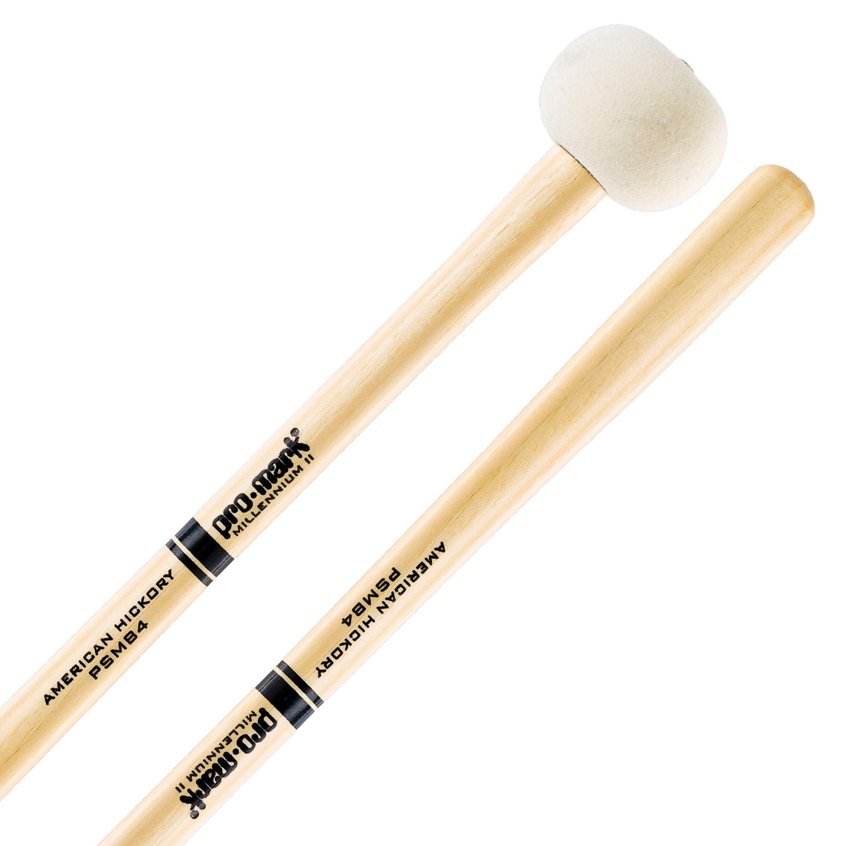 Promark Performer Series Medium Large Hard Felt Marching Bass Drum Mallets