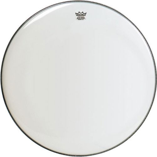 "Remo 28"" Ambassador Smooth White Bass Drum Head"