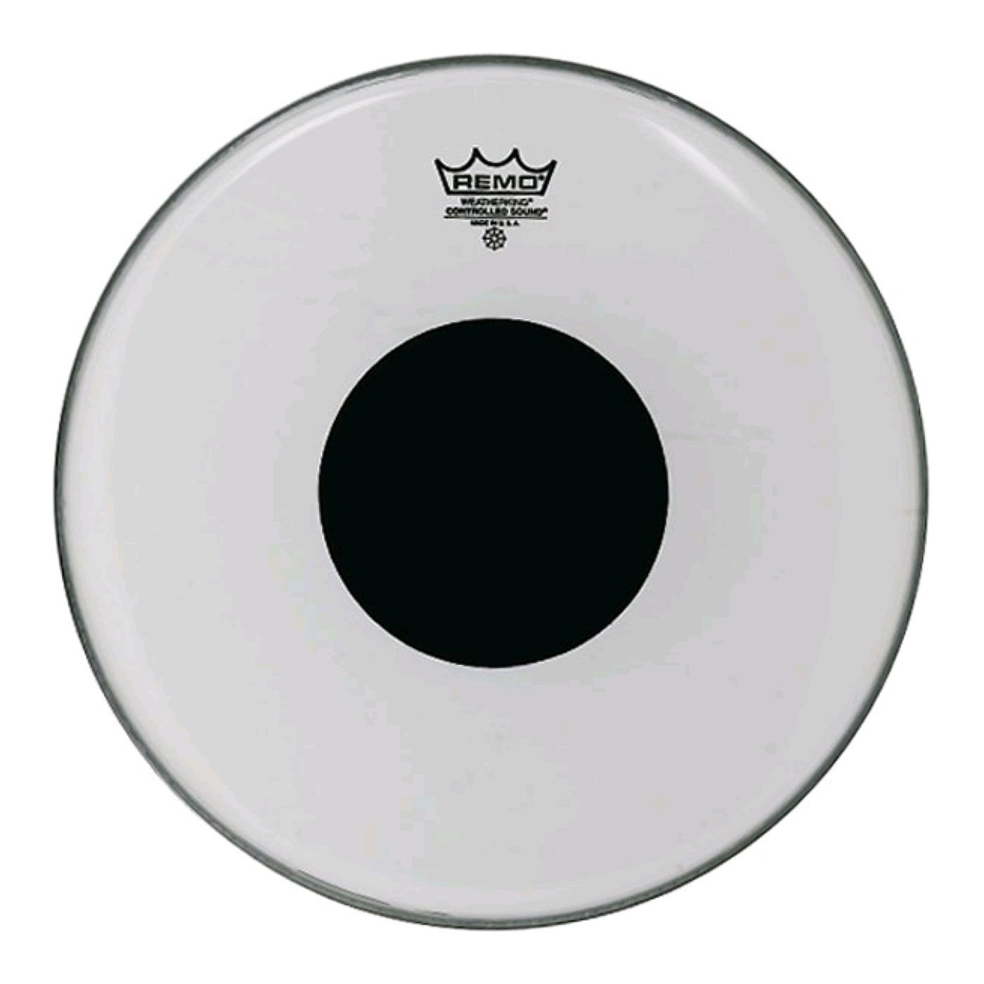"Remo 24"" Controlled Sound Clear Bass Drum Head with Black Dot"