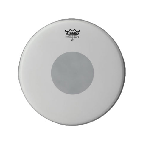 "Remo 12"" Controlled Sound X Coated Drum Head with Black Dot"