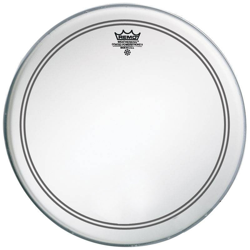 "Remo 18"" Powerstroke P3 Coated Bass Drum Head with Falam Patch"