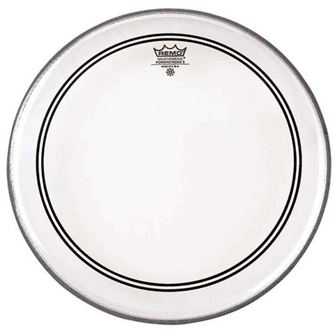 """Remo 18"""" Powerstroke P3 Smooth White Bass Drum Head with Falam Patch"""