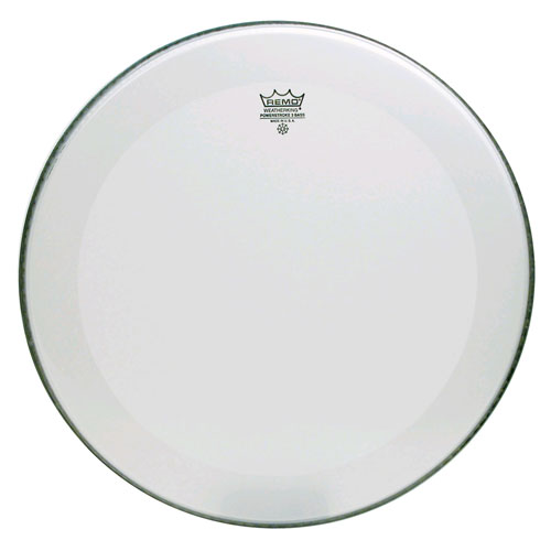 "Remo 22"" Powerstroke P3 Smooth White Bass Drum Head with 5"" White DynamO"