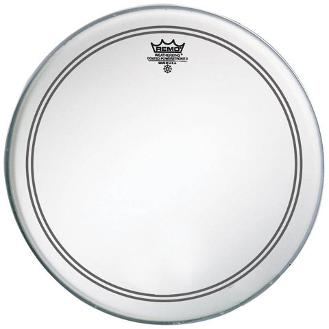 """Remo 24"""" Powerstroke P3 Smooth White Bass Drum Head with Falam Patch"""