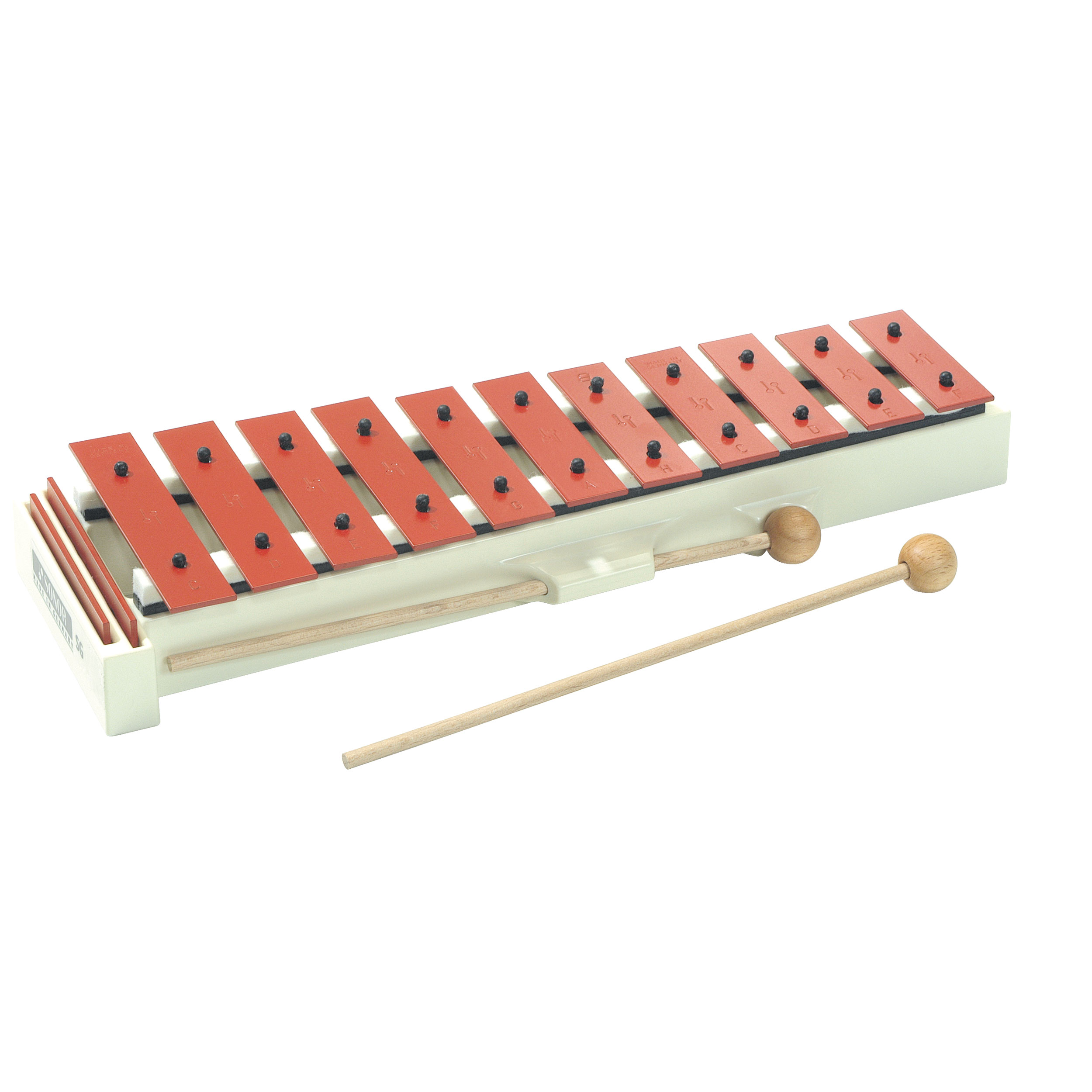 Sonor Orff Soprano Diatonic Glockenspiel, Red Bars