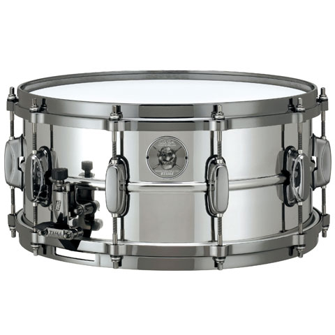 "Tama 6.5"" x 14"" Charlie Benante Stainless Steel Snare Drum"