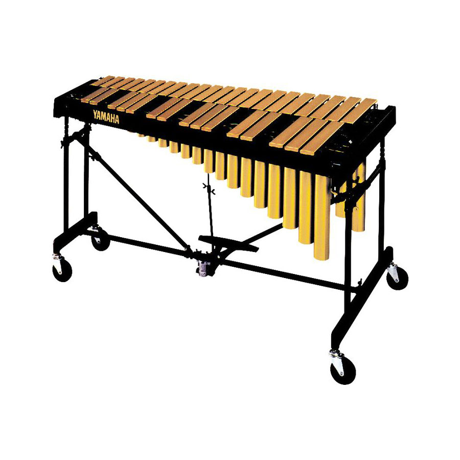 Yamaha 3 Octave Gold Tour Matte Vibraphone with cover.