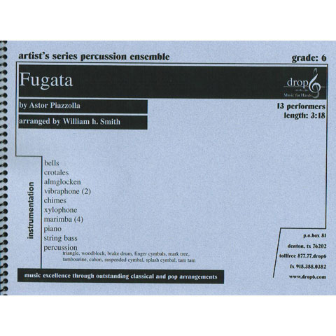 Fugata by Astor Piazzolla arr. William H. Smith