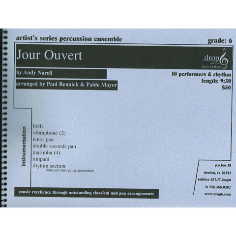 Jour Ouvert by Andy Narell arr. Paul Rennick and Pablo Mayor
