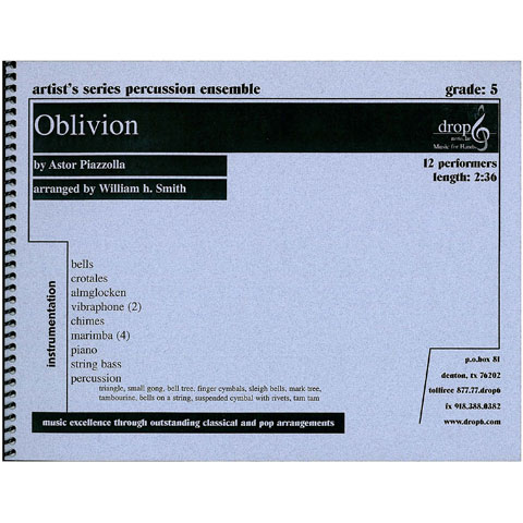 Oblivion by Astor Piazzolla arr. Smith, ed. Schietroma