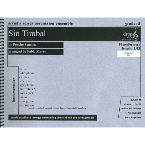 Sin Timbal by Poncho Sanchez arr. Pablo Mayor
