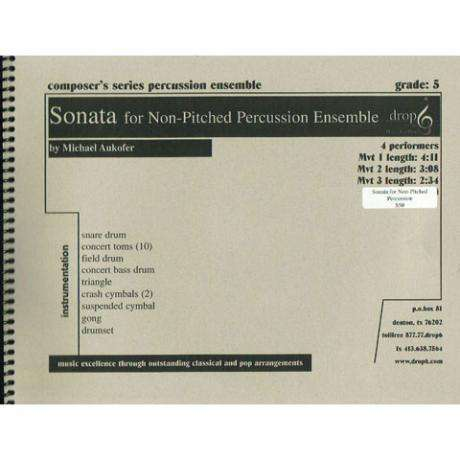 Sonata for Non-Pitched Percussion by Michael Aukofer