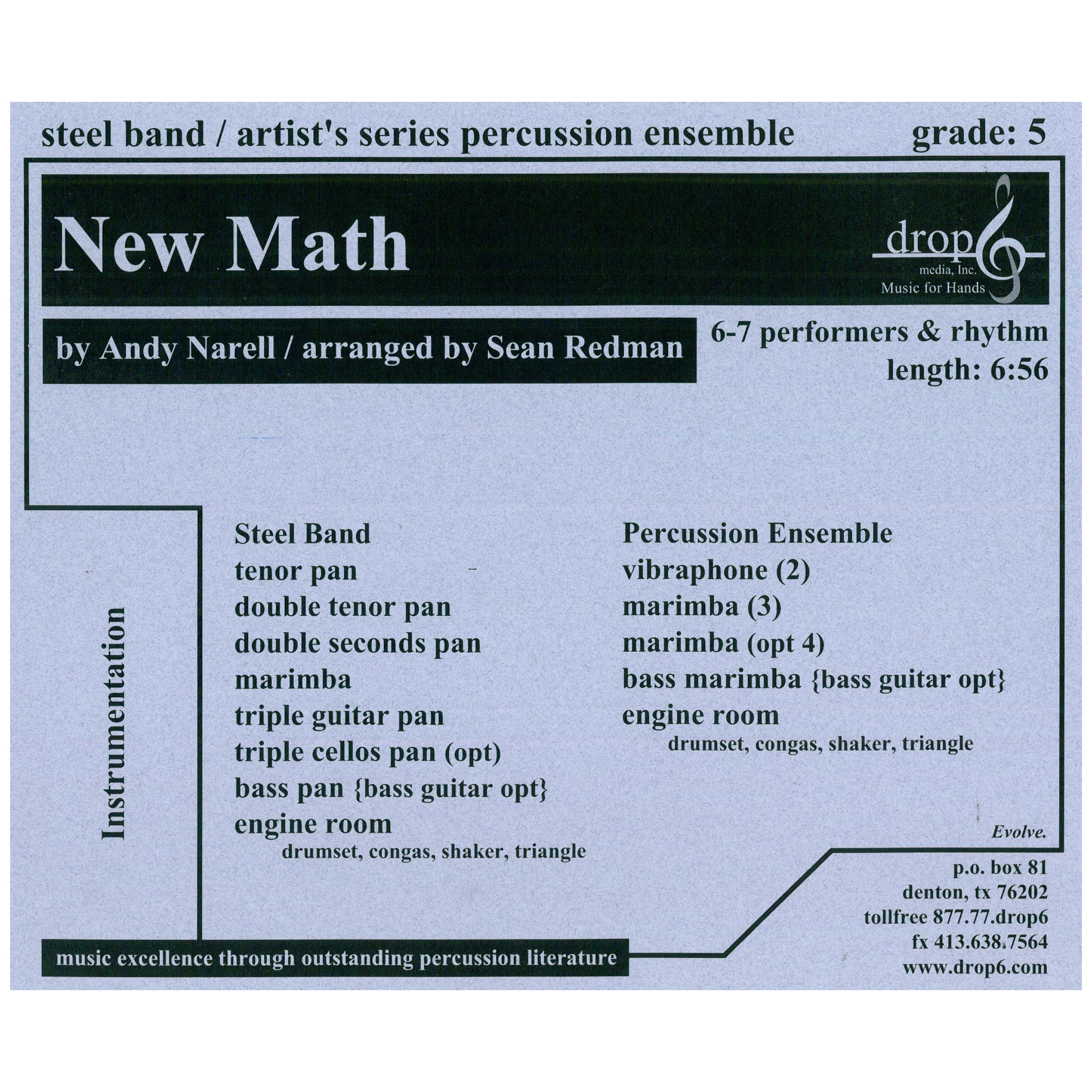 New Math by Andy Narell arr. Redman
