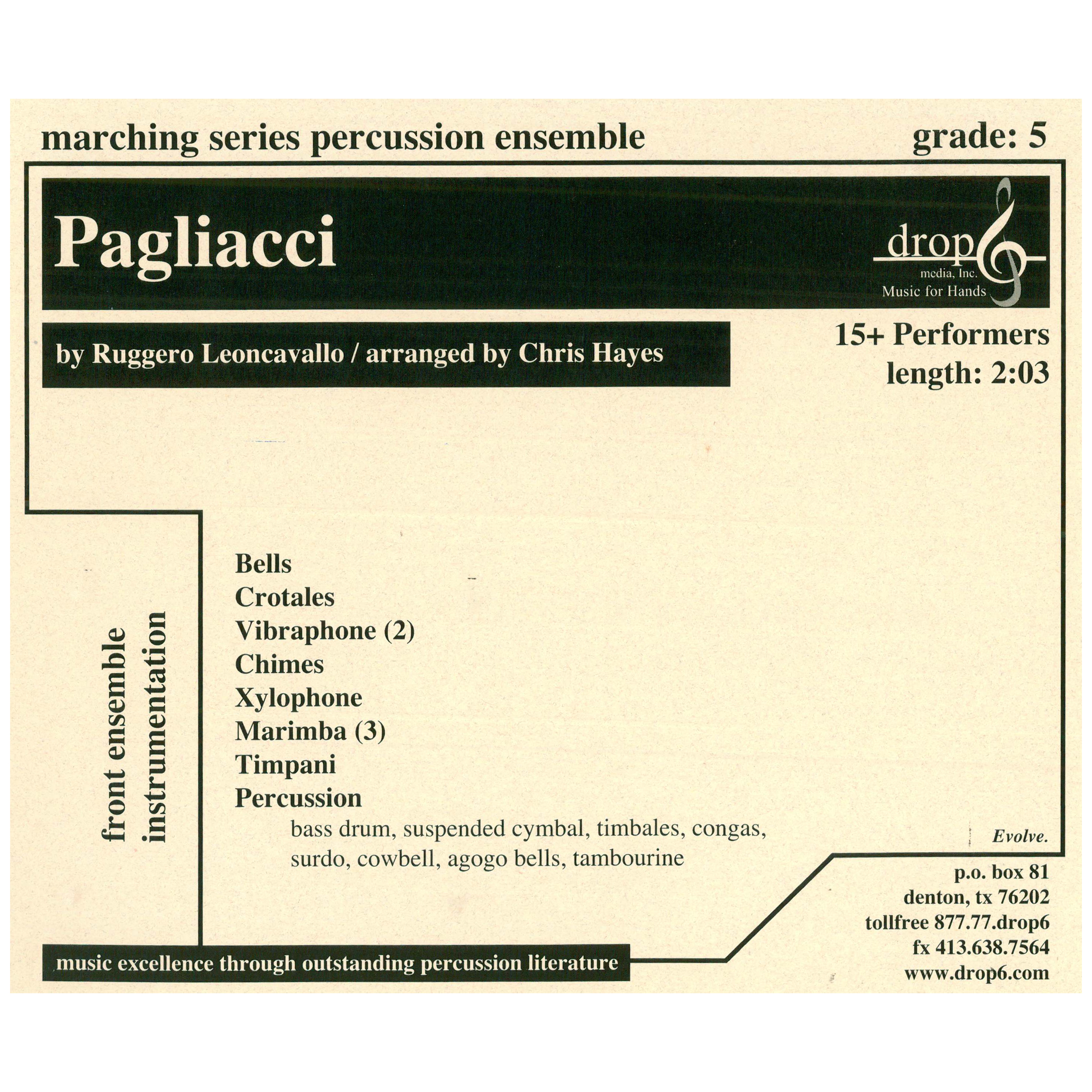 Pagliacci by Leoncavallo arr. Hayes