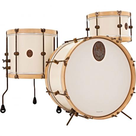 A&F Drum Co. 3-Piece Antique White Maple Field Drum Set Shell Pack (26