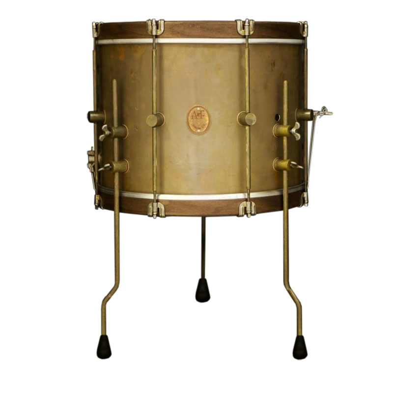 "A&F Drum Co. 10"" x 14"" Royal Duke Kick/Floor/Snom Drum with Walnut Hoops"