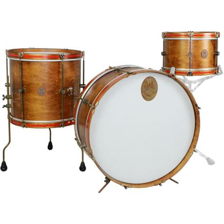 A&F Drum Co. 3-Piece Whiskey Maple Field Drum Set Shell Pack (24