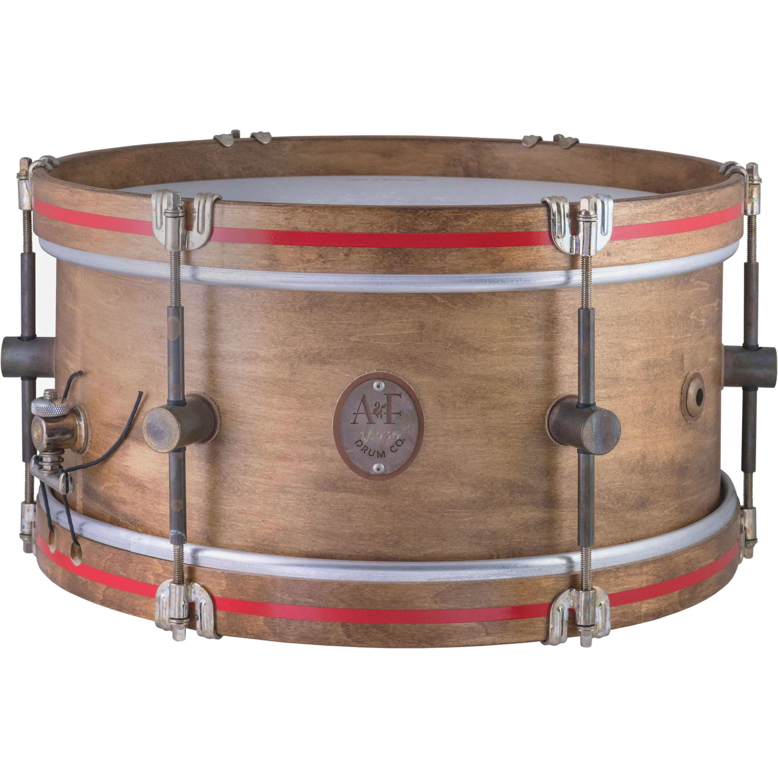 "A&F Drum Co. 6.5"" x 14"" Whiskey Maple Field Snare Drum"