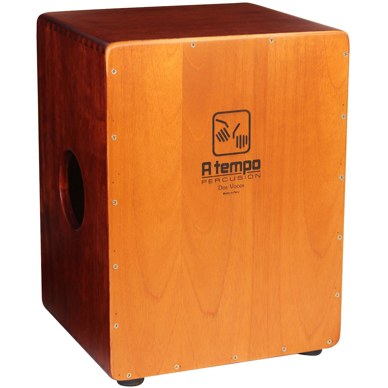 A Tempo Percussion Dos Voces (Two Voices) Cajon with FREE Bag