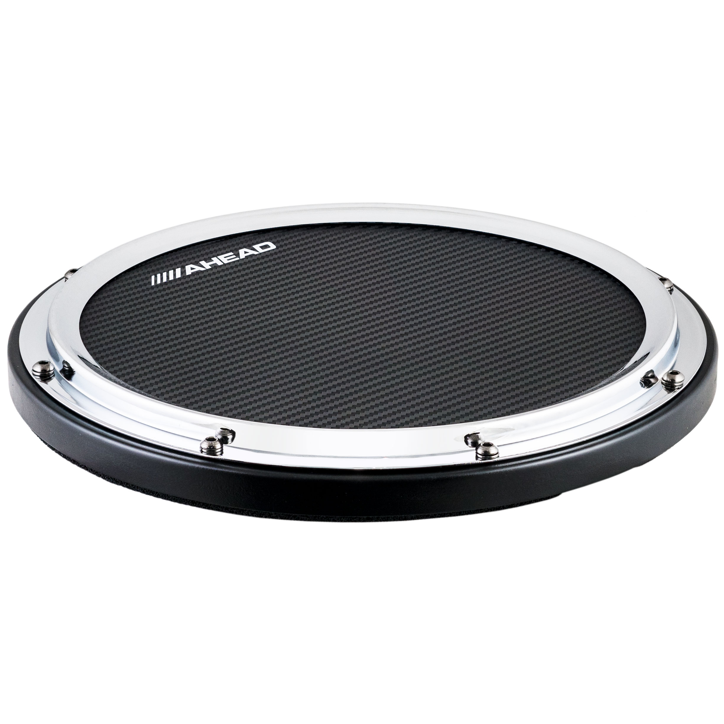 """Ahead 14"""" Chrome S-Hoop Pad with Snare Sound"""