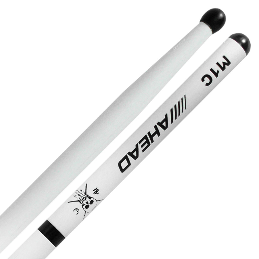 """Ahead 16.75"""" White Marching Snare Sticks"""