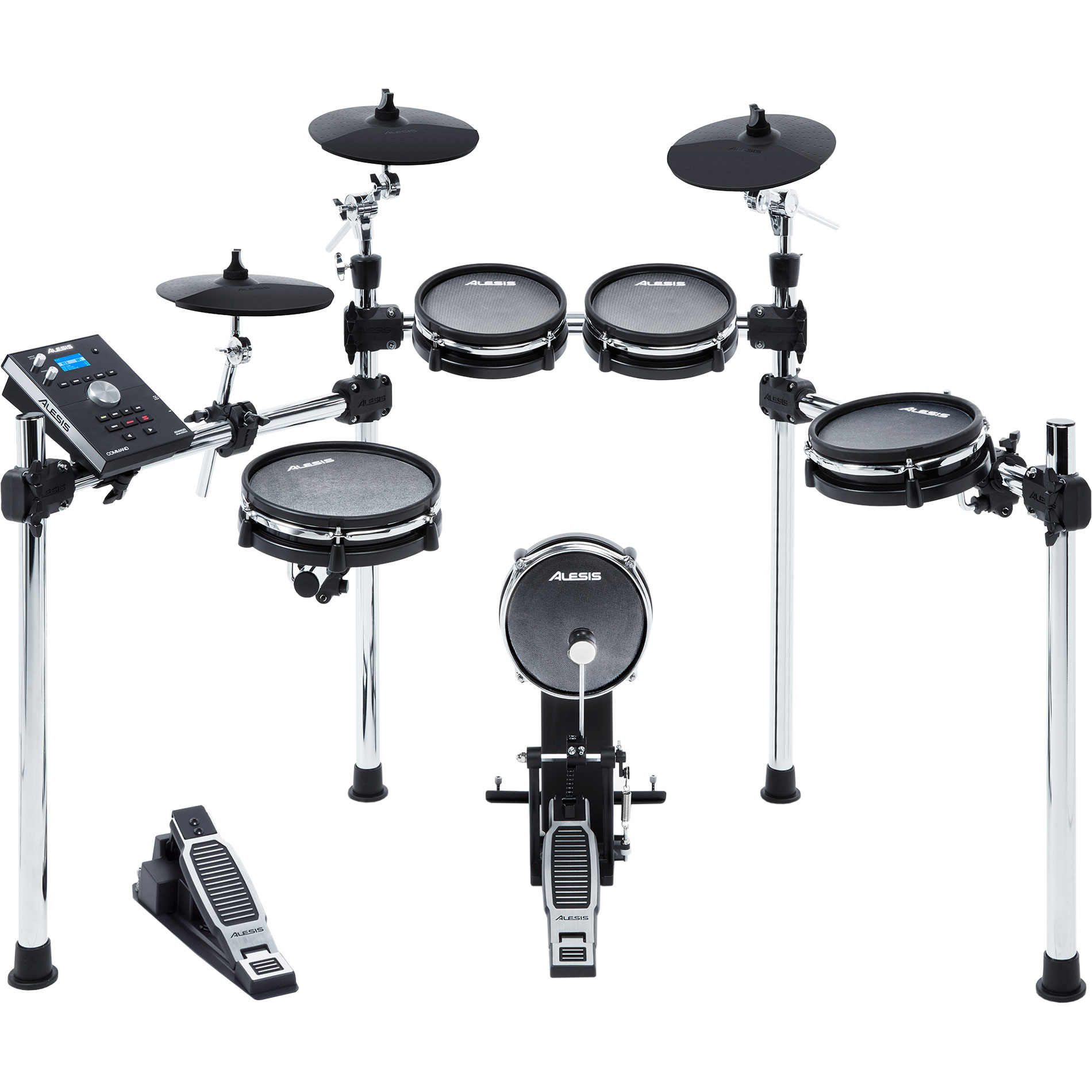 Alesis Command 5-Piece Electronic Drum Set with 3-Sided Chrome Rack