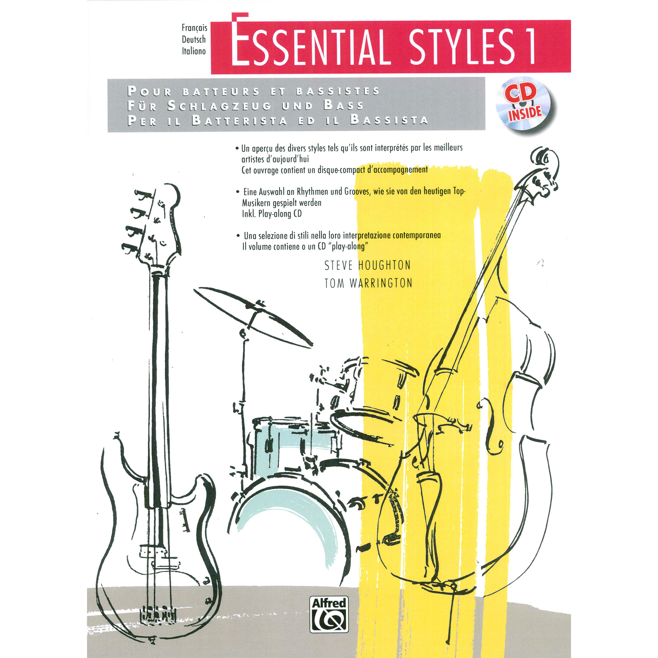 Essential Styles for the Drummer and Bassist - Book 1 by Steve Houghton - International Edition