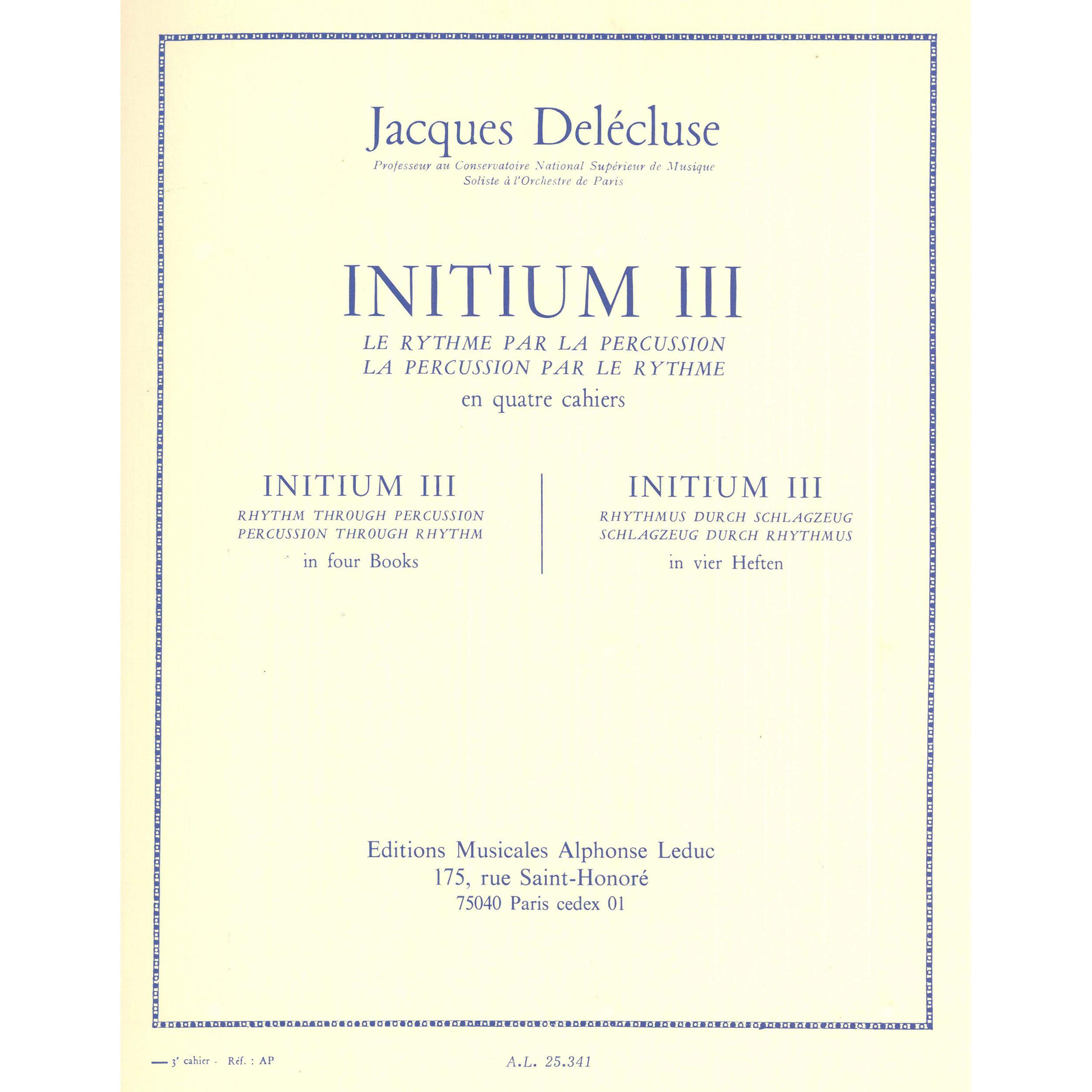 Initium III by Jacques Delecluse