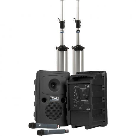 Anchor Audio Liberty Deluxe AIR 2: Bluetooth PA, Speaker, Stands, and Headband Mics