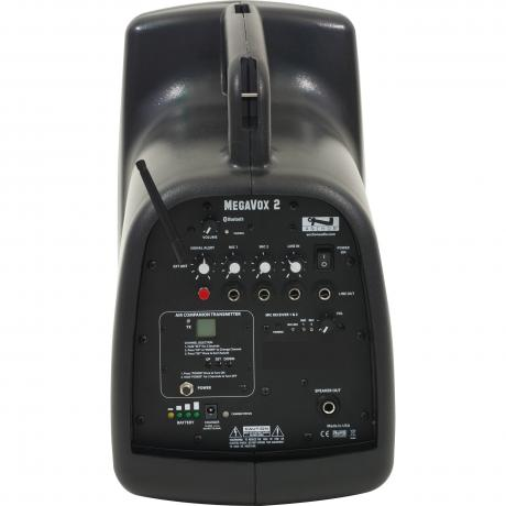 Anchor Audio MegaVox with Built-In Bluetooth, AIR Transmitter and Dual Wireless Microphone Receiver