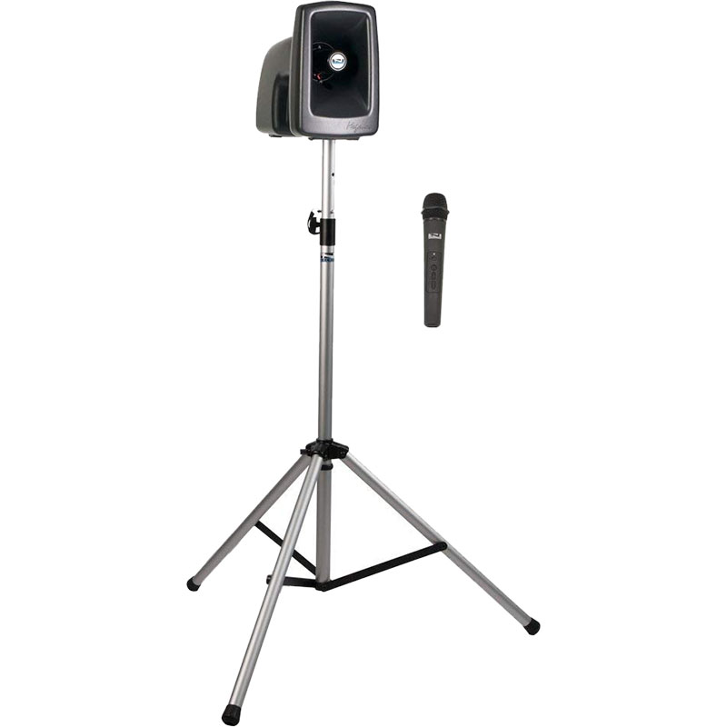 Anchor Audio MegaVox Basic Package 1 Includes MEGA2-U2 PA System, SS-550 Stand, and Wireless Microphone with Belt Pack