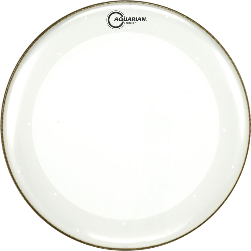 """Aquarian 22"""" Force I Clear Bass Drum Head with Vented Control Ring"""